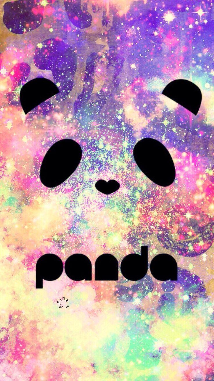Рисунок панды на фоне космоса