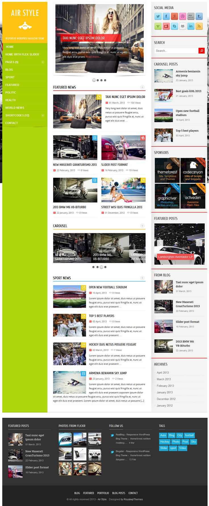 Air Style - Responsive WordPress Magazine Theme - #wordpress #theme #template #responsive #design #webdesign #magazine #blog