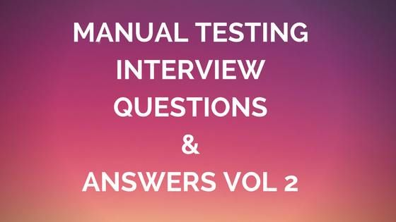 Manual Testing Interview Questions and Answers vol 2Q1. What is Top-Down Approach?Ans-Testing