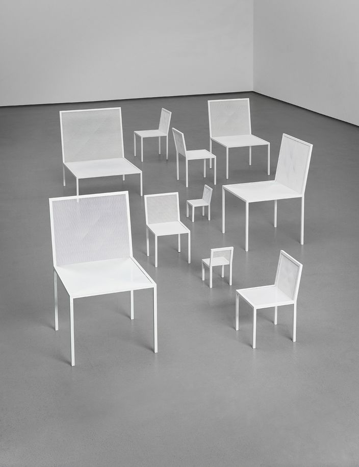 Group of ten 'Mimicry' chairs, design by Nendo