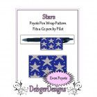 Bead Pattern Peyote(Pen Wrap/Cover)-Stars