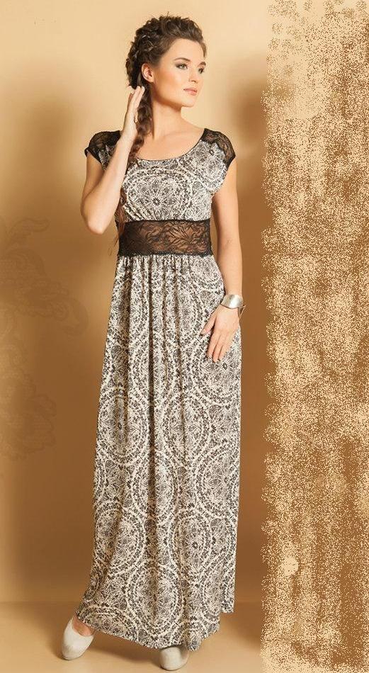 Летние платья и сарафаны : Элегантное длинное платье TopDesign РА5 68