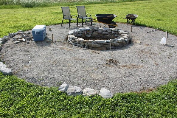 These Hometalkers Built Their Dream Stone Fire Pit Right