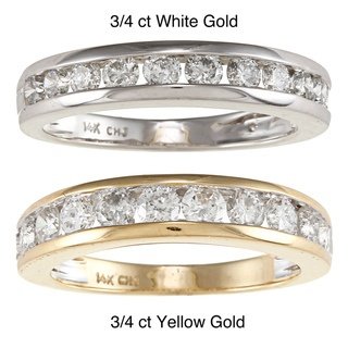 @Overstock.com.com - The most popular band to express your ever lasting love to her with this beautiful 14-karat gold anniversary band.http://www.overstock.com/Jewelry-Watches/14k-White-or-Yellow-Gold-3-4ct-or-1ct-TDW-Channel-Diamond-Eternity-Band/6341804/product.html?CID=214117 $899.99
