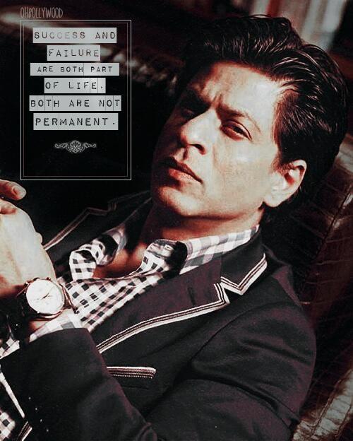 Embedded image permalink-SRK. Shahrukh Khan. Life quote.