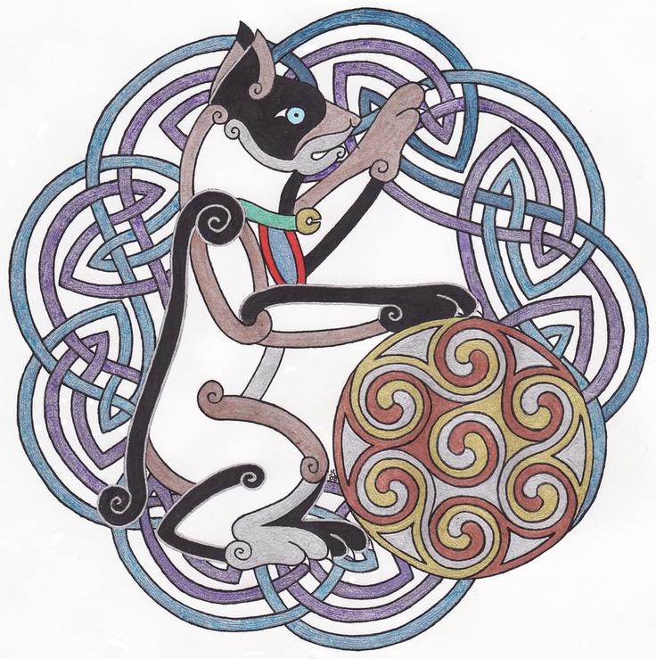 cat celtic coloring pages - photo#11
