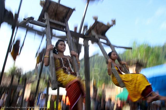 Tenganan Traditional Swing | Bali, Indonesia