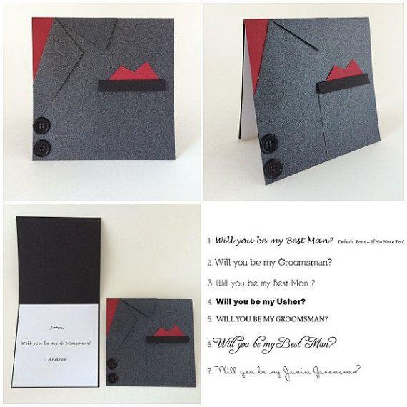 Black Suit Wedding Invitation Will you be my por CallMeCraftie