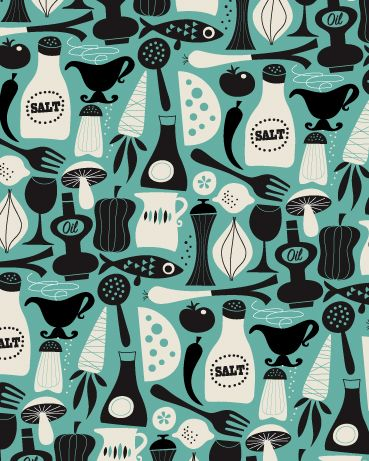 Ingela Arrhenius: Designinspiration Patterns, Ingela Arrhenius, Pattern Food Illustration, Window Over Sink, Window Treatments, By, Arrhenius Design, Arrhenius Illustration, Salt