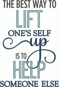 Silhouette Online Store - View Design #63669: best way to lift is to help - phrase