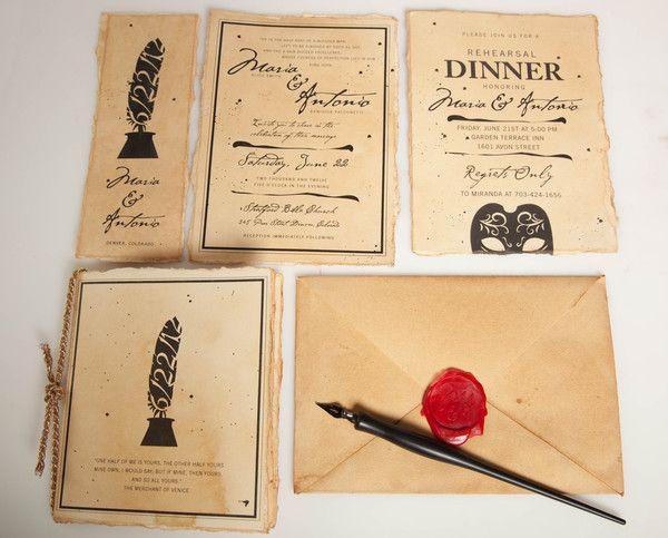 Shakespeare Wedding Invitation Suite by Kristen O'Callaghan, via Behance