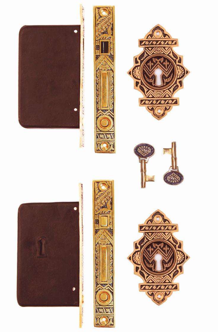 Oriental Fancy Double Pocket Door Locking Sets #1309A.USXX