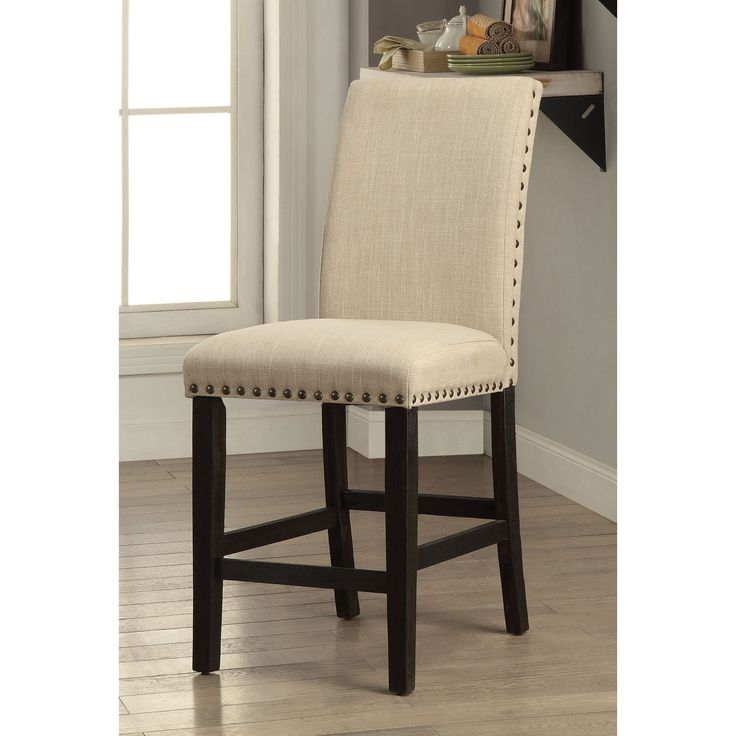 Furniture of America Denilia Contemporary Ivory Fabric Parson Counter  Height Chairs  Set of 2  by Furniture of AmericaBest 25  Counter height chairs ideas on Pinterest   Chairs for  . Fabric Covered Counter Height Chairs. Home Design Ideas