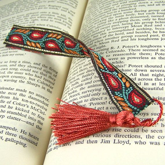 115 best bookmarks images on pinterest marque page book for How to tie a ribbon on a bookmark