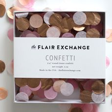 Handcut Confetti - Peach, Blush, Dark Pink, Rose Gold. Shop more confetti here at https://www.shop-fancythat.com/search?q=confetti