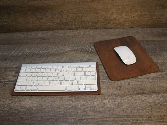 Apple Mousepad  Keyboard Pad  Apple iMac by WindroseLeather