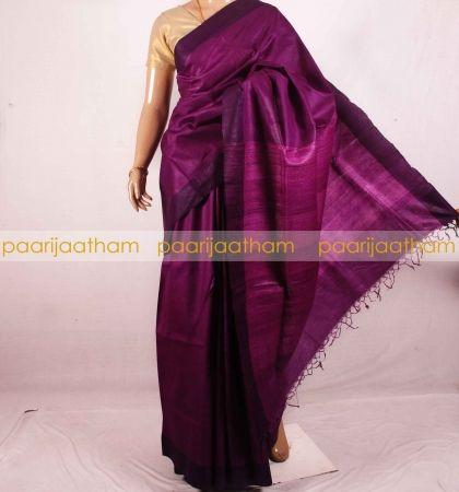 Buy Handloom Tussar Silk Sarees Online   Paarijaatham