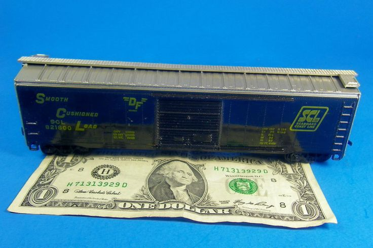 HO 1:87 Brand ?? Railroad Train Freight Box Car, SEABOARD COAST LINES Weighted #