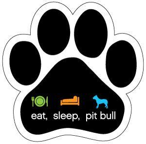 eat, sleep, pit bull