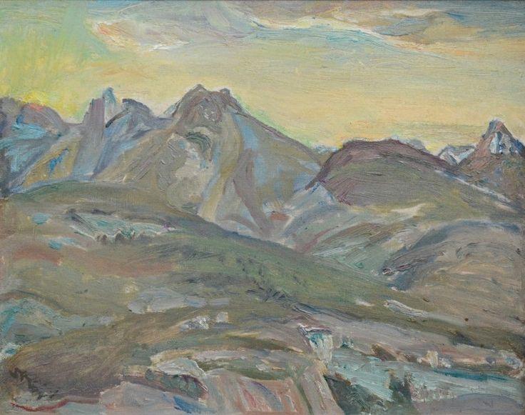 Frederick Varley - Sunset Near Kaslo B.C 12 x 14.5 Oil on canvas board panel
