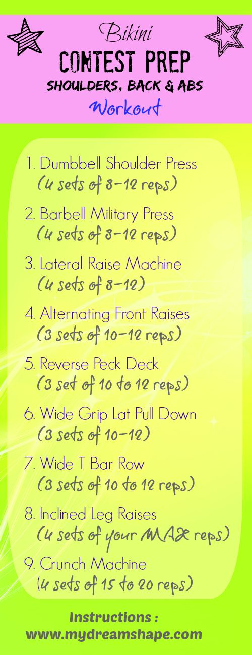 Bikini Prep Shoulders, Back & Abs Workout !