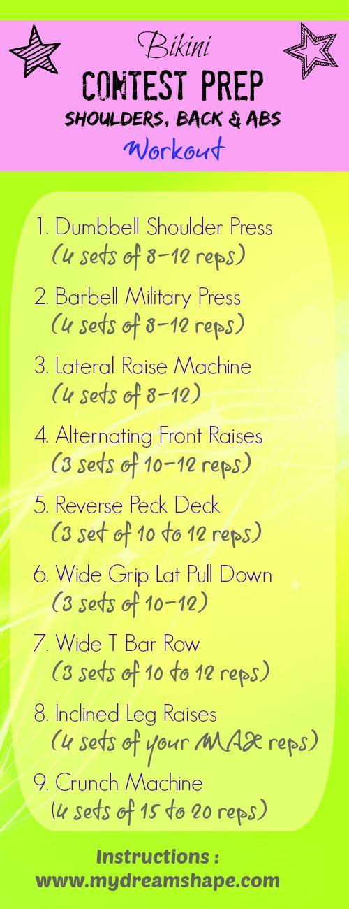 Bikini Prep Shoulders, Back & Abs Workout !