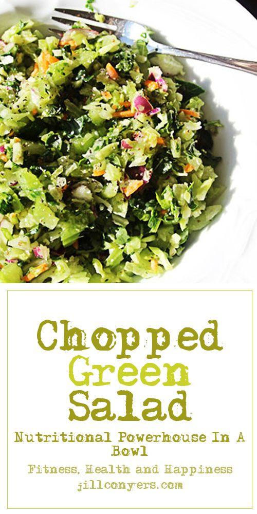 Chopped Green Salad jillconyers.com