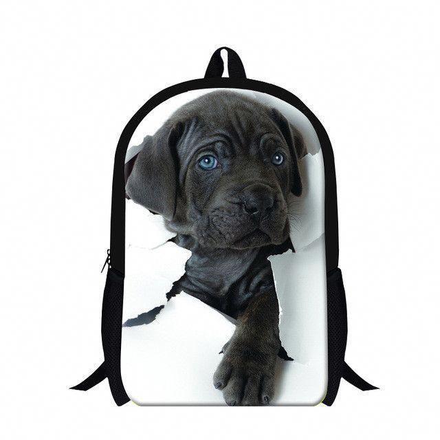 Low Cost Dog Euthanasia Near Me Ineedadogsitter Code 9612794475 Girl And Dog Boys Backpacks Animal Print Backpacks