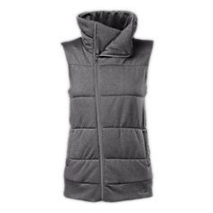 Relax into the cozy warmth of this mid-weight vest that's quilted throughout the body and features a stylish asymmetrical front zipper and high collar.