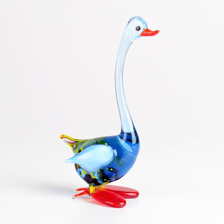 Long Neck Goose Glass Figurine