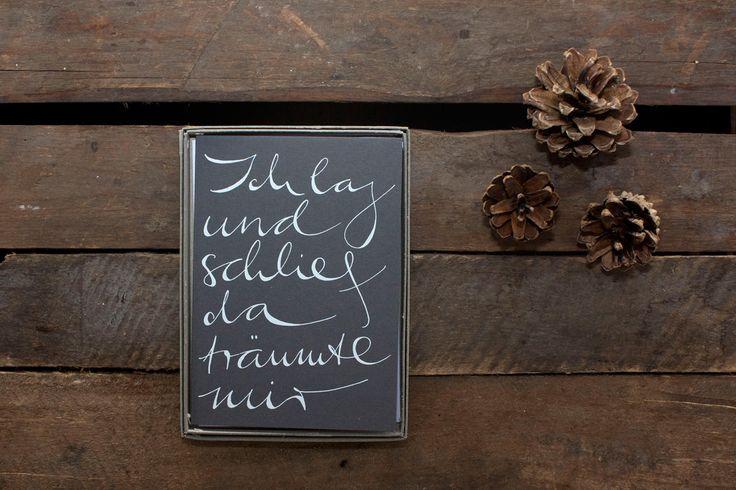 'poems on paper' ist die neue grußkartenedition von 'www.styledbycollective.de' #weihnachtskarten #weihnachtsgruesse #grusskarten #lyrik #poem