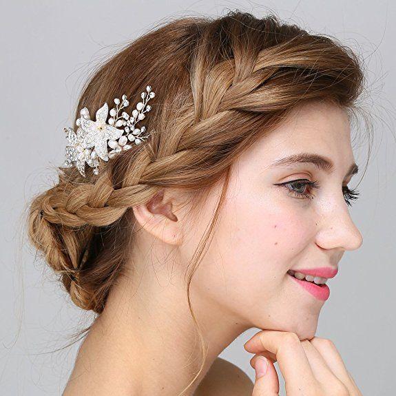 Braut Vintage Silber Haar Kamm Crystal Strass Perle Blume Hochzeit Haarschmuck: Amazon.de: Schmuck  http://amzn.to/2rRzHiB