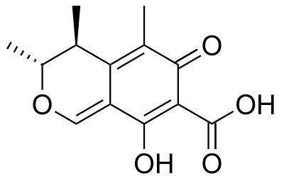 Skeletal formula of citrinin