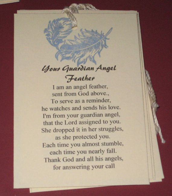 6 Gift Tags Your Guardian Angel Poem | See best ideas ...