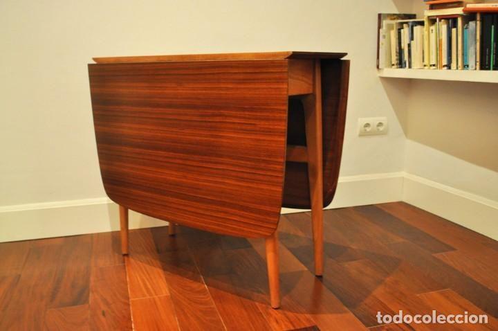 Vintage: Mesa plegable de teca - Foto 5 - 69590349