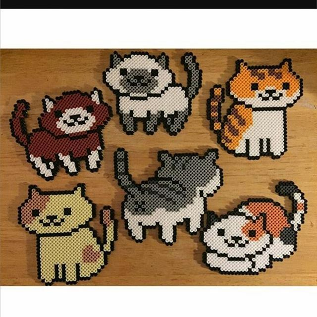 Neko Atsume perler beads by perfectlyperled