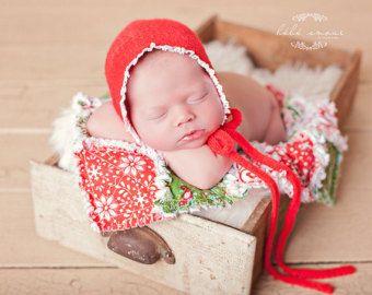 SOMBRERO del bebé recién nacido del knit por babyportraitpropshop