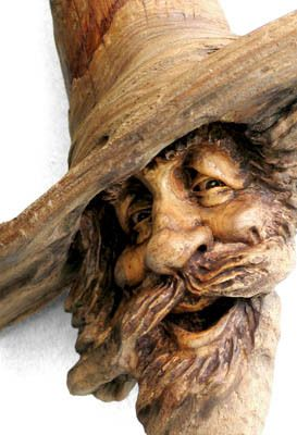 Full of joy, the wood spirit laughed heartily at all the shenanigans in Gnome mans land.   -artist Nancy Tuttle