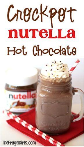 Crockpot Nutella Hot Chocolate