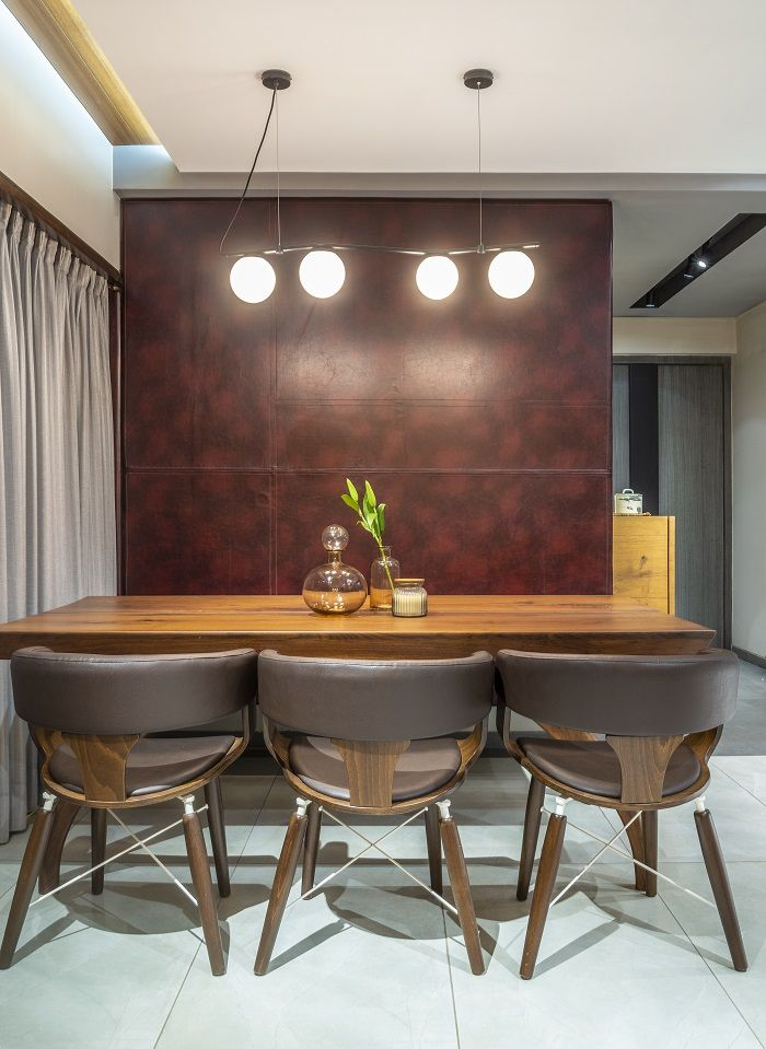 A Snug Apartment In The City Dress Your Home Modern Dining Room Stylish Dining Room Dining Table Design Modern