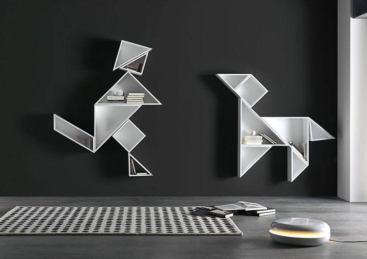 Muebles Portobellostreet.es: Estantería Tamgram Two - Librerías de Diseño - Muebles de Diseño