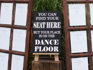 Find your seat signboard