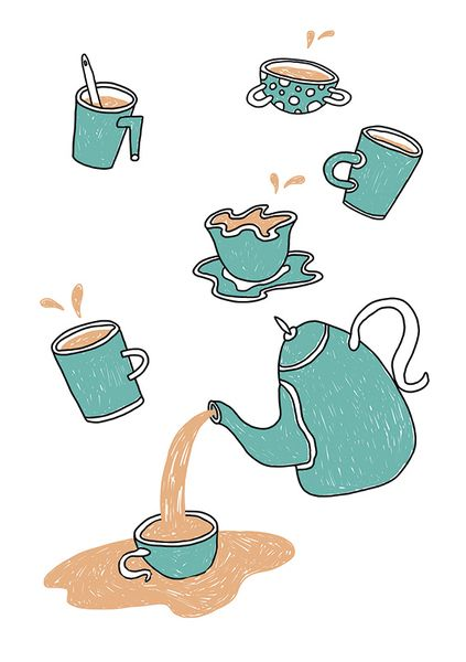 «Tea». Анастасия Шарымова. #helloposter #poster #posters #art #modernart #printart #illustrators #illustration