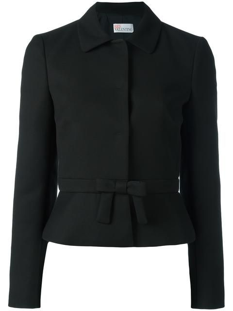Shop Red Valentino bow detail jacket .