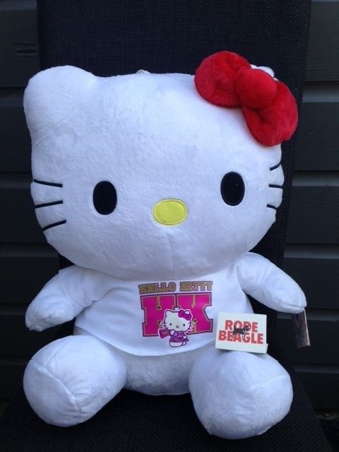 "Pluche Hello Kitty, 40 cm groot ""wit t-shirt"""
