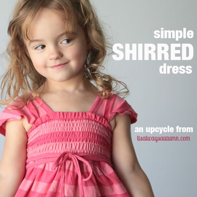 the pink dress my daughter doesn't need...and a shirringtutorial - itsalwaysautumn - it's always autumn