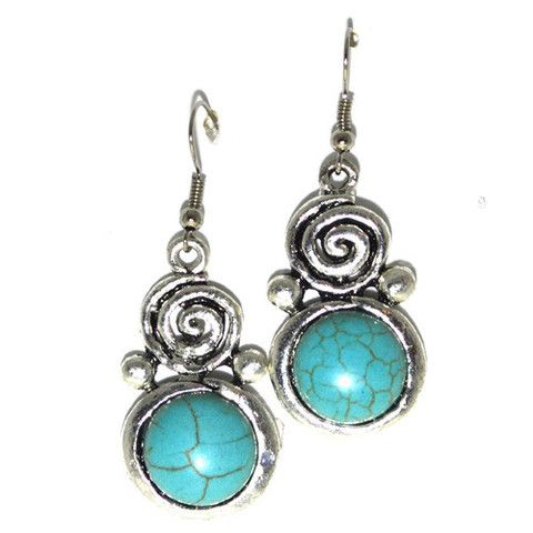 Earrings turquoise and silver – Jc & Crew