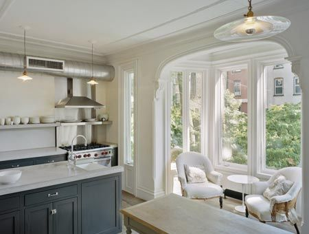 tiny sunroom as extension of kitchen