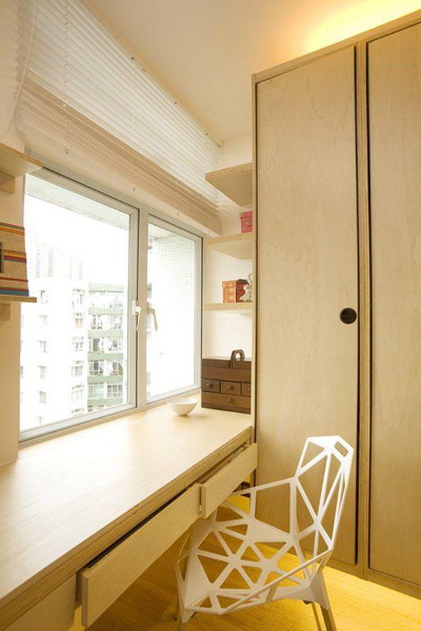 Грамотный дизайн интерьера маленькой квартиры в 39 кв. м, Гонконг