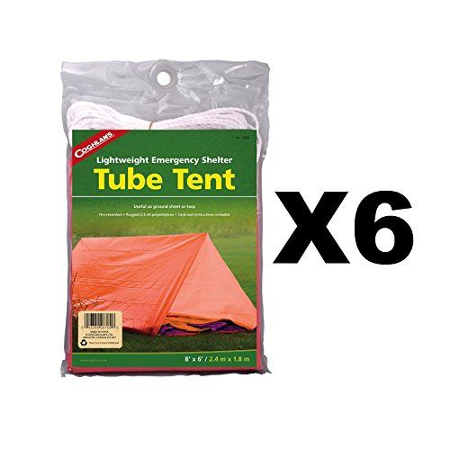 Coghlan's Tube Tent Emergency Lightweight Polyethylene Camping Shelter (6-Pack)